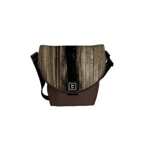 La bolsa de mensajero de madera del tablón del vin bolsas de mensajeria