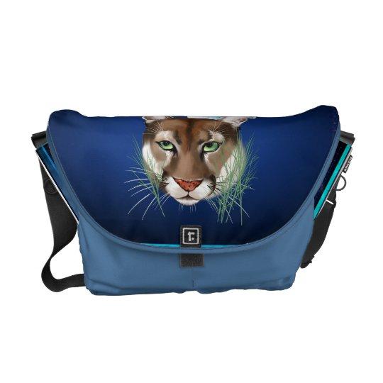La bolsa de mensajero de medianoche del león de mo bolsa de mensajeria