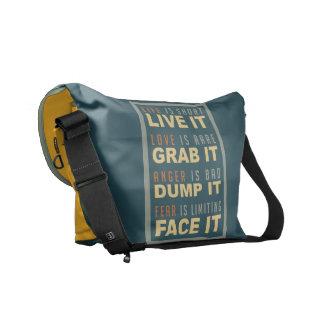 La bolsa de mensajero de motivación del medio del  bolsas de mensajería