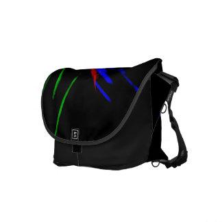 La bolsa de mensajero de neón del negro del acento bolsas messenger