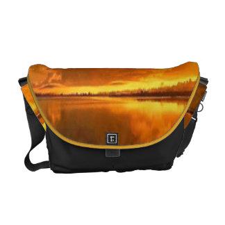 La bolsa de mensajero de oro del carrito de la pue bolsa messenger