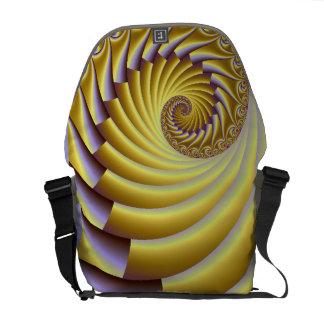 La bolsa de mensajero de oro del carrito del rizo bolsas de mensajeria