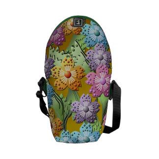 la bolsa de mensajero de papel del jardín de flore bolsa de mensajería