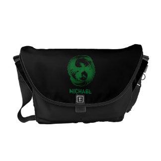 La bolsa de mensajero de Phoenix del verde esmeral Bolsas De Mensajeria