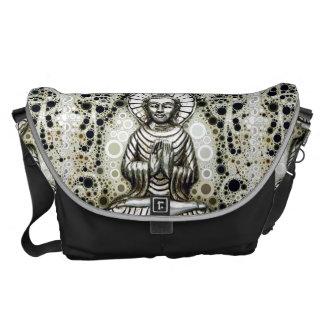 La bolsa de mensajero de plata de Buda Bolsa De Mensajeria