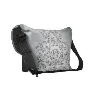 La bolsa de mensajero de plata del estampado de bolsa messenger