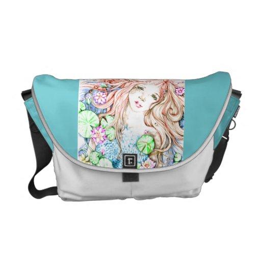 La bolsa de mensajero de princesa Watercolor de la Bolsas De Mensajeria