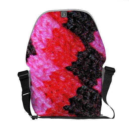 La bolsa de mensajero de punto colorida bolsa de mensajería