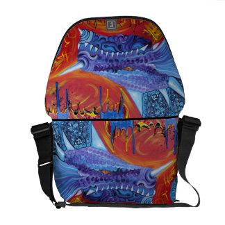 La bolsa de mensajero de señor Rickshaw del dragón Bolsas De Mensajería