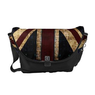 La bolsa de mensajero de Union Jack del Grunge Bolsa De Mensajería