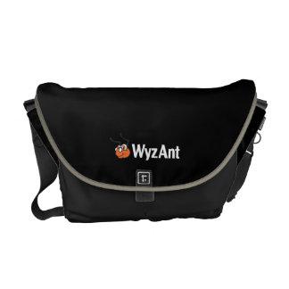 La bolsa de mensajero de WyzAnt - medio, negro Bolsas De Mensajeria