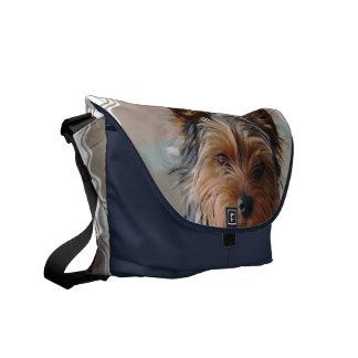 La bolsa de mensajero de Yorkie Terrier Bolsas De Mensajería