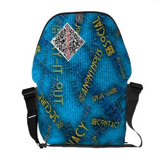 La bolsa de mensajero de ZWOOKY QR Bolsa De Mensajeria