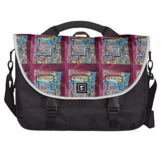 La bolsa de mensajero del activismo bolsas de portatil