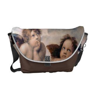 La bolsa de mensajero del ángel de la querube bolsas de mensajeria