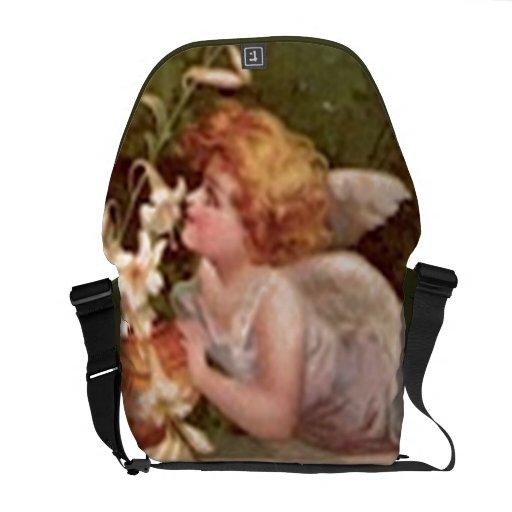 La bolsa de mensajero del ángel del jardín del vin bolsa de mensajería