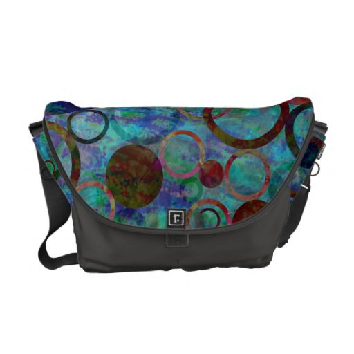 La bolsa de mensajero del arco iris de los círculo bolsa messenger