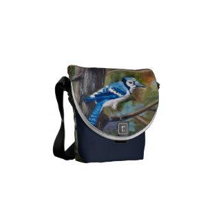 La bolsa de mensajero del arrendajo azul bolsas de mensajeria