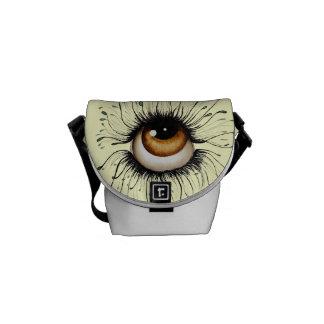La bolsa de mensajero del arte de la mirada mini bolsa messenger