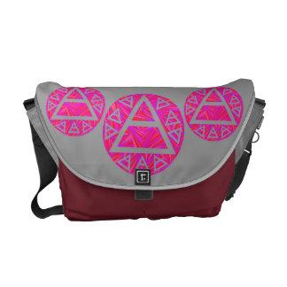 La bolsa de mensajero del arte de la tríada del sí bolsas de mensajería