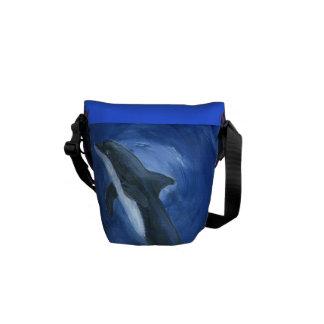 la bolsa de mensajero del arte del delfín bolsas de mensajería