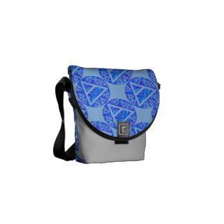 La bolsa de mensajero del azul del diseño del triá bolsa de mensajeria