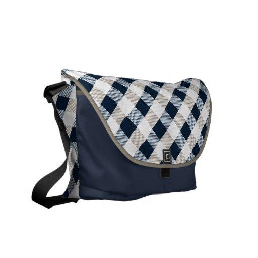 La bolsa de mensajero del beige de la marina de gu bolsa messenger