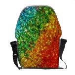 La bolsa de mensajero del brillo del arco iris bolsas de mensajeria