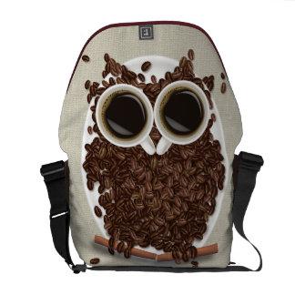 La bolsa de mensajero del búho del grano de café bolsa de mensajeria