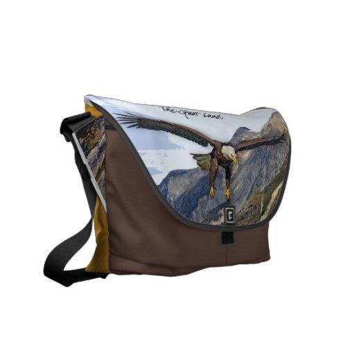 La bolsa de mensajero del carrito de Alaska Bolsas De Mensajería
