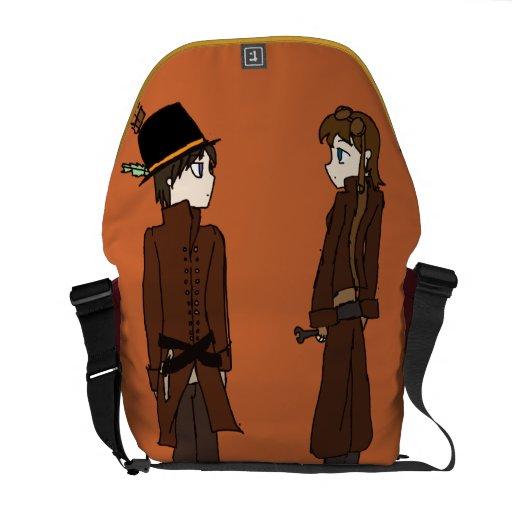 La bolsa de mensajero del carrito de la ciudad de  bolsas de mensajería