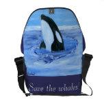 la bolsa de mensajero del carrito de la orca bolsa messenger