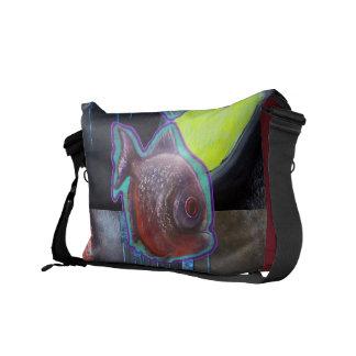 La bolsa de mensajero del carrito de la piraña bolsas de mensajeria