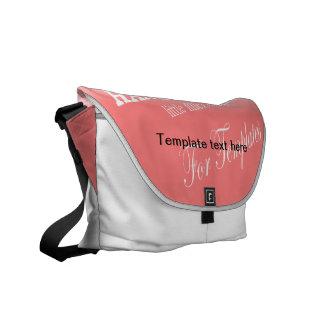 La bolsa de mensajero del carrito de la plantilla  bolsa de mensajería