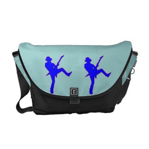 La bolsa de mensajero del carrito de la silueta de bolsas de mensajería