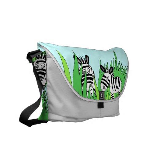 la bolsa de mensajero del carrito de las cebras bolsa de mensajeria