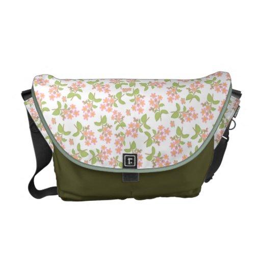 La bolsa de mensajero del carrito de las flores de bolsas de mensajeria