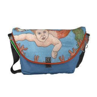 La bolsa de mensajero del carrito de las personas  bolsas de mensajería