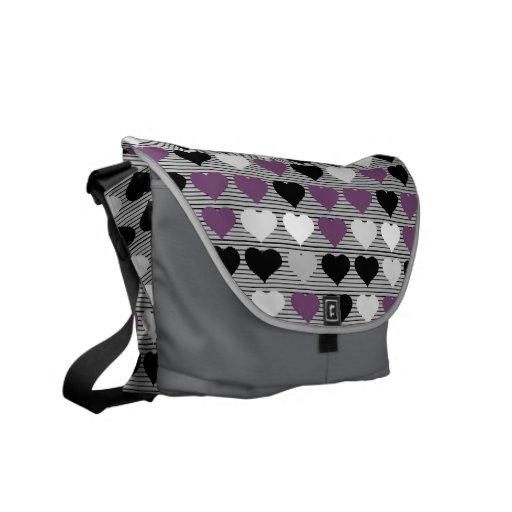 La bolsa de mensajero del carrito de los corazones bolsa de mensajería