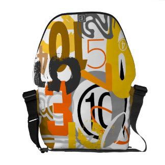 La bolsa de mensajero del carrito de los números bolsas de mensajeria