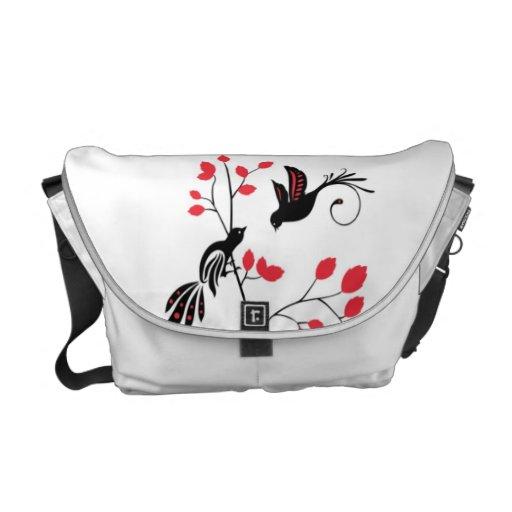 La bolsa de mensajero del carrito de los pájaros 2 bolsas messenger