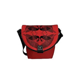 La bolsa de mensajero del carrito de los pavos rea bolsas de mensajeria