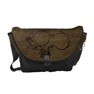 La bolsa de mensajero del carrito de los vidrios d bolsas de mensajeria