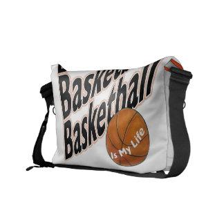La bolsa de mensajero del carrito del baloncesto bolsas messenger