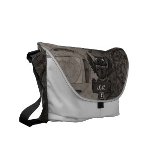 La bolsa de mensajero del carrito del búho de Stea Bolsas De Mensajería