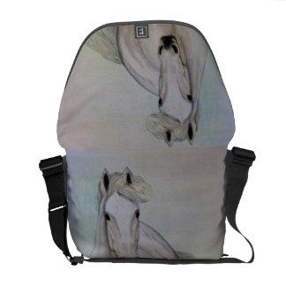 """La bolsa de mensajero del carrito del """"caballo bla bolsas de mensajeria"""