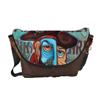 La bolsa de mensajero del carrito del chica del pi bolsa de mensajeria