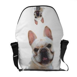 La bolsa de mensajero del carrito del dogo francés bolsa de mensajeria