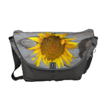 La bolsa de mensajero del carrito del girasol y de bolsa de mensajeria