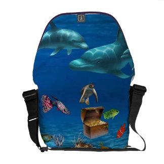 La bolsa de mensajero del carrito del mar profundo bolsas de mensajeria